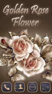 Rose Flower Design Golden Rose Flower Theme Android Apps On Google Play