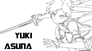 sword art online colouring in google search coloring pages