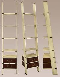 Nautical Bookcase Shabby Chic Bookshelf Ladder Book Shelf Leaning Bookcase