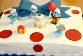 ad orable smurfs themed birthday party happy smurfday penny
