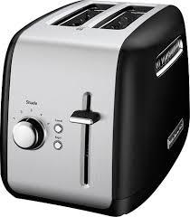 2 Slice White Toaster Kitchenaid Kmt2115ob 2 Slice Wide Slot Toaster Black Kmt2115ob