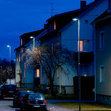 Contemporary Architecture Characteristics by Urban Lamppost Contemporary Cast Aluminum Glass Evolume