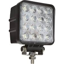 battery powered shop light ultra tow 9 32 volt led flood light clear square 4 5 16in