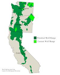 Washington Coast Map West Coast Wolves Wolves In California