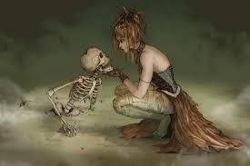 fantasy art artwork witch death skeleton at061 living room