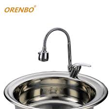 online get cheap round stainless sink aliexpress com alibaba group orenbo polished kitchen sink kitchen faucet mixer cold and hot kitchen tap stainless steel kitchen sinks