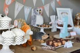 themed dessert table woodland friends birthday party fantabulosity