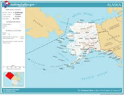 map of alaska cities united states geography for alaska