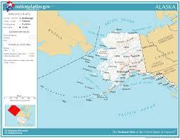 alaska major cities map united states geography for alaska