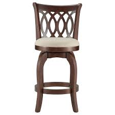 Counter Height Chairs With Back Verona Linen Scroll Back Swivel 24 Inch High Back Counter Height