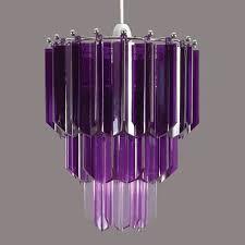 Purple Pendant Light Shade Soft Illumination Of Purple Lamp Shade We Bring Ideas