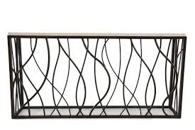 Iron Console Table Hooker Stone Iron Console Table Mathis Brothers Furniture