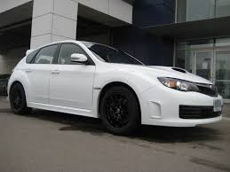 White 2008 Sti With Black Oz Ultraleggera Rims 3 Madwhips