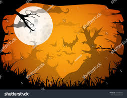 halloween yellow spooky a4 frame border stock vector 316428539