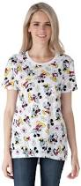 Disney Clothes For Juniors Disney Mickey U0026 Minnie Mouse All Over Juniors White T Shirt Ebay