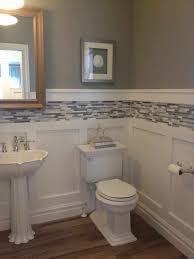 list tile wainscoting gallery tile bathroom wainscoting height