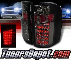 chevy silverado led tail lights spec d led tail lights smoke 07 13 chevy silverado pickup truck