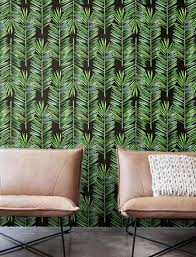 jungle palm leaves wallpaper removable wallpaper self adhesive