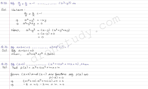 class 9 class x cbse r s aggarwal solutions polynomials cce