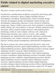 Sample Marketing Resumes by Top 8 Digital Marketing Executive Resume Samples