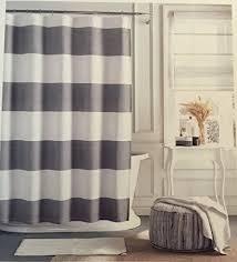 Kassatex Shower Curtain Smart Design Grey Striped Shower Curtain Kassatex