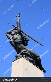 stock photo nike statue in warsaw poland nike in greek mythology was a goddess who personified victory also 105834182 jpg