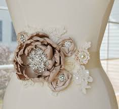 wedding dress sashes taupe bridal sash weddings wedding weddings and