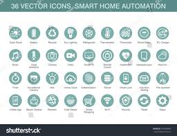 Home Automation Logo Design Vector Icons Smart Home Automation Stock Vector 441668443