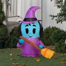halloween inflatable happy witch 3 5 u0027 x 2 u0027 halloween decoration