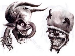 evil clown tattoo on shoulder real photo pictures images and