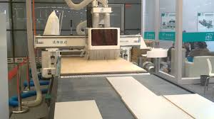 wood cabinet cnc production line with auto loading and uploading