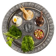 the passover plate set the seder plate