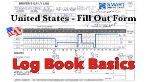 how to fill out the form united states log books youtube