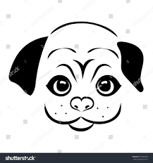 sketch dog face pretty dog isolated stock vector 576783760