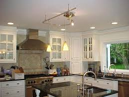 kitchen island track lighting track lighting for kitchen ceiling image of industrial track