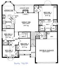 1500 Sq Ft Ranch House Plans 1500 Sq Foot House Plans With Wrap Around Porch Readvillage Square