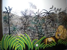 educational murals for schools and day nurseries rousseau style jungle mural
