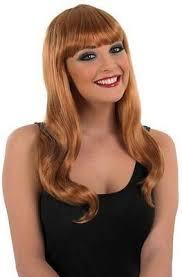 long wig with fringe wavy blonde brown auburn black ladies girls