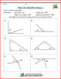 finding missing angles in triangles worksheet 2d shapes worksheets