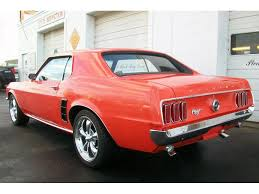 1969 mustang orange 1969 mustang coupe for sale