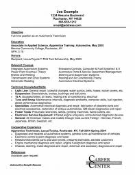 Prepress Technician Resume Examples Entry Level Cover Letter Example Auto Mechanic Resume Job Avionics