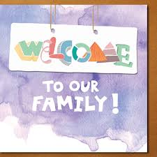 welcome to our family modern family greeting cards greeting