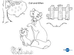 cat kitten kids activities colouring pages