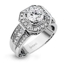wide band engagement rings 18k white gold wide band diamond engagement ring collection