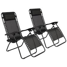 Costco In Store Patio Furniture - zero gravity chairs case of 2 black lounge patio chairs outdoor