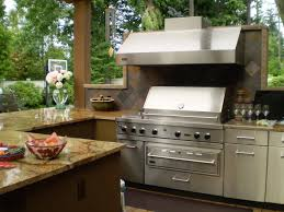 furniture outdoor kitchen idea stainless steel refrigerator built