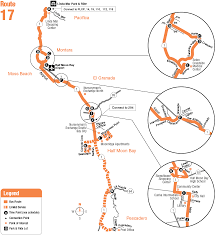 Sfo Bart Map by Route 17