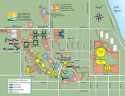 Cleveland State University Campus Map by Northern Michigan University Map Michigan Map
