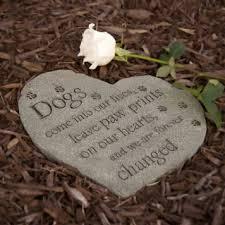 pet memorial stones pet memorial pawprints on our hearts