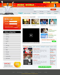 templates for video website xhtml and css templates for music websites